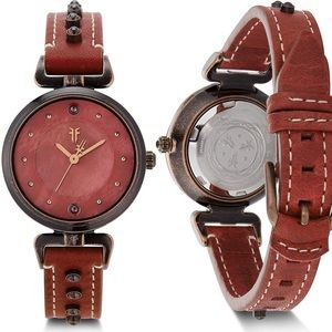 NWT FRYE Japanese Leather Strap Watch
